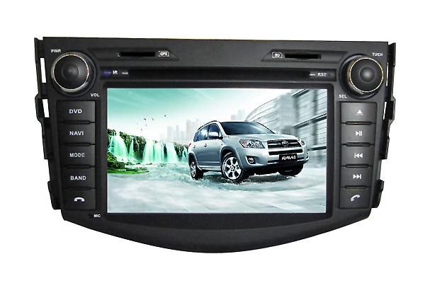 Car DVD Player fit for Toyota RAV4 2006-2012 bluetooth USB Analog TV IPOD Steering wheel control Touch Screen AM FM(China (Mainland))