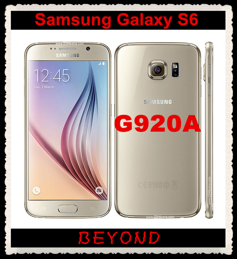 """Samsung Galaxy S6 G920A AT&T Version Original Unlocked 4G LTE GSM Android Mobile Phone Octa Core 5.1"""" RAM 3GB ROM 32GB 16MP(China (Mainland))"""