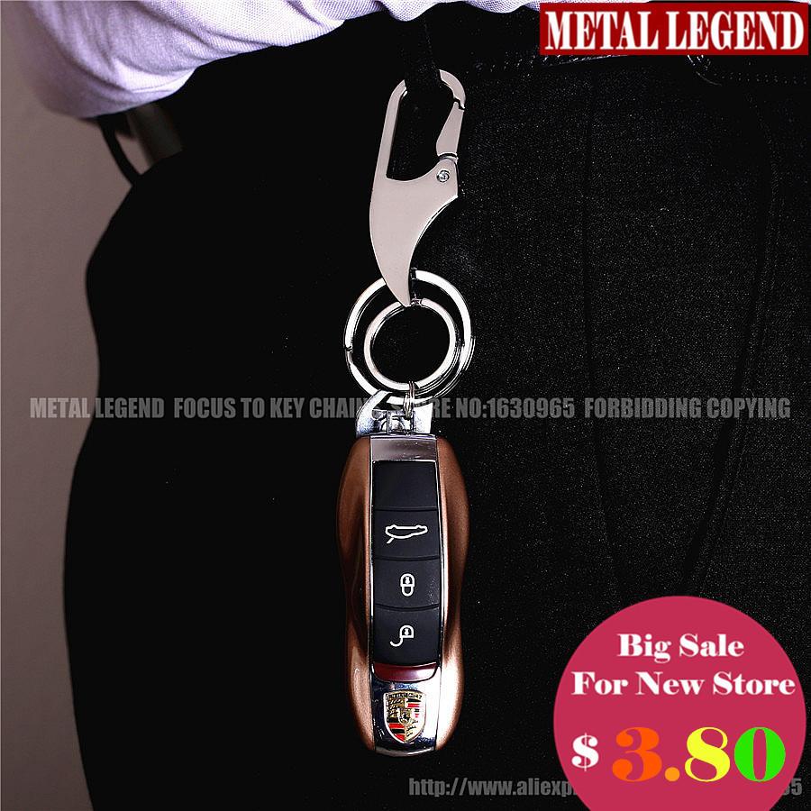 2015 Hot Sale Retail Two-rings Mirror Polishing Metal Car Key Chain Ring Holder Man's Strap Keyholder Waist Hanged QZ7-002(China (Mainland))