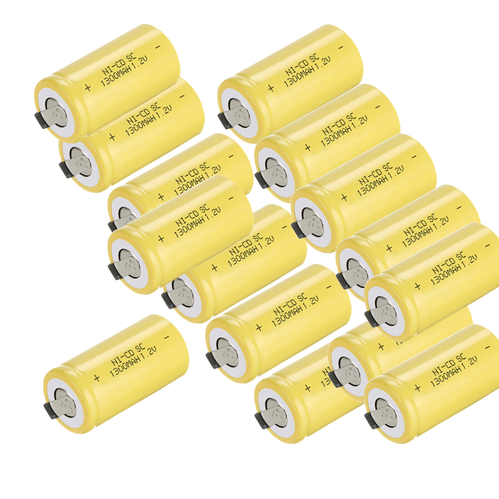 15 pcs a set SC battery SUB C battery rechargeable battery 1300mah battery 1.2v(China (Mainland))