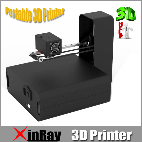 Convenient Portable 3D Printer with Multi-Language Compatible Different Filament Aluminum Metal Printer 3D LX01(China (Mainland))