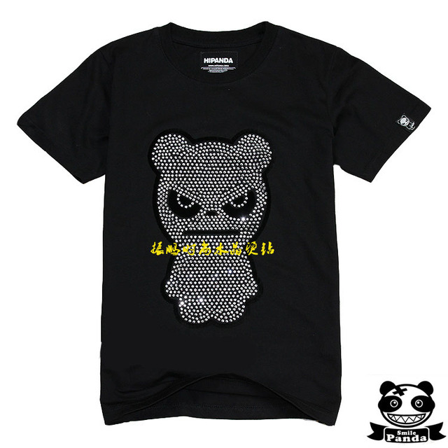 2013 clothing accessories super bright rhinestone luxury bling bear t-shirt hot map finished product