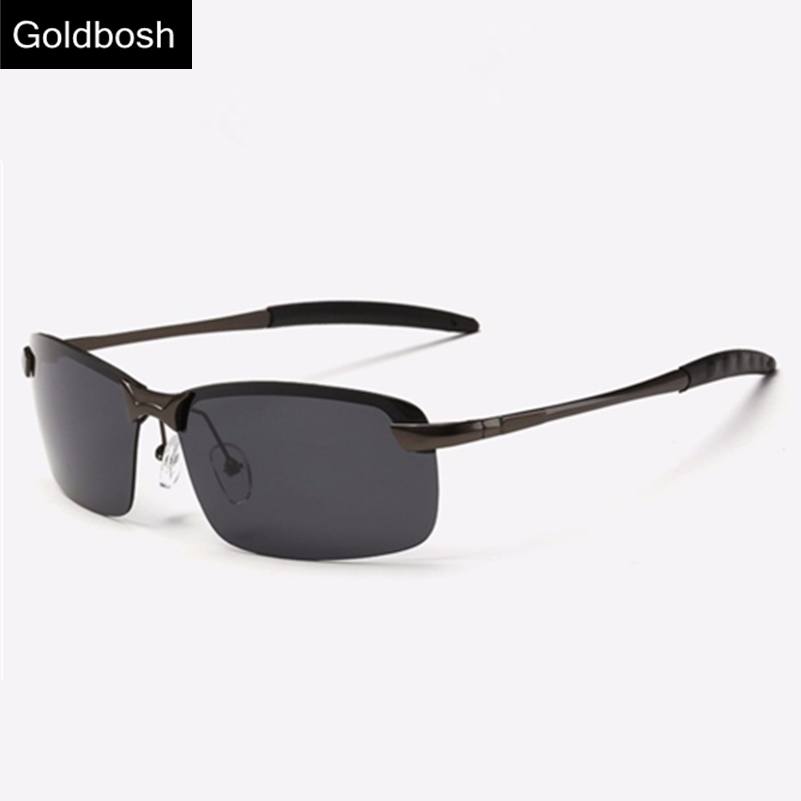 2015 men polarized sunglasses drivers Fashion Retro brand designer 3043 Rimless sun glasses male Black oculos Surprise price(China (Mainland))