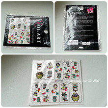 Nail Art Water Decals Transfer Stickers Cute Animal Owl Pattern Sticker BOP124 15559