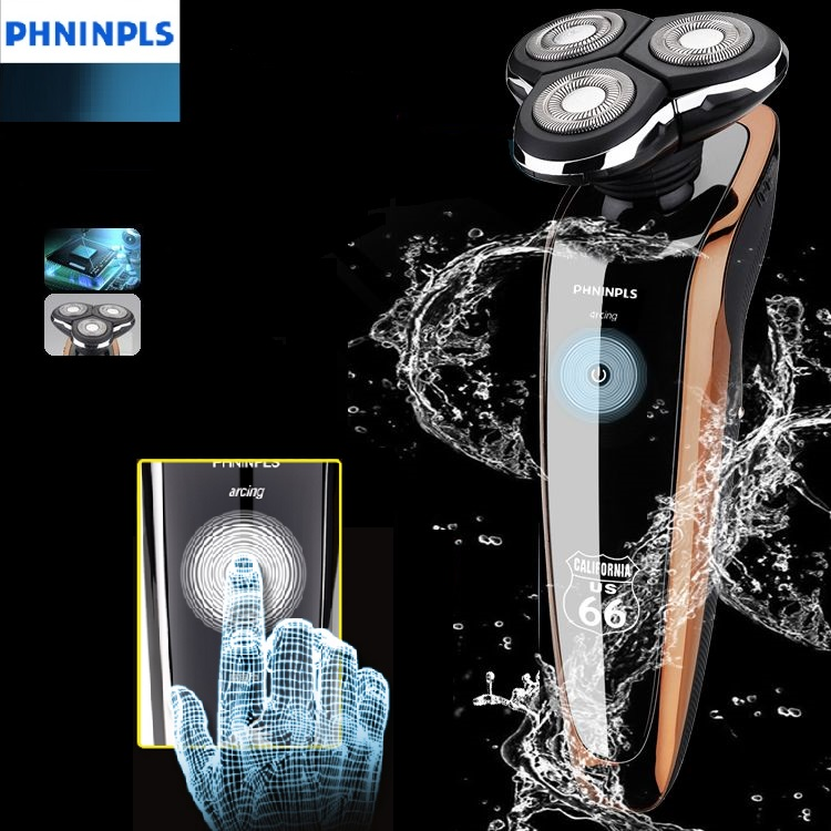 Touch-screen Men's Shaver Electric Razor For Men Rechargeable Waterproof Beard Shaving Machine For Philips Technology Wet&dry(China (Mainland))