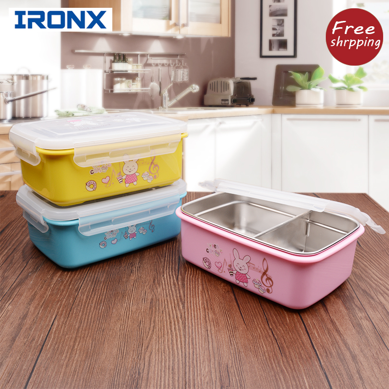 304 stainless steel bento box lunch box set of cute sealed students children portable lunchboxes bento box japanese style(China (Mainland))