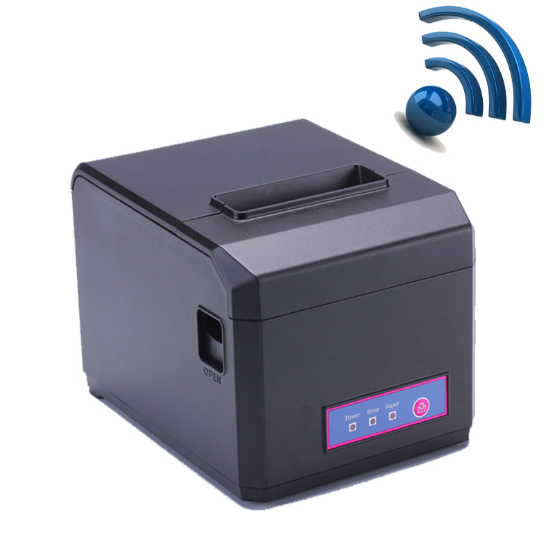 High Quality Wifi & LAN POS 80mm Thermal receipt printer with auto cutter and 300mm/s printing support 58 & 80mm paper HS-E81ULW(China (Mainland))