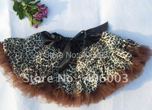 wholesale leopard pettiskirt satin tutu skirt(China (Mainland))