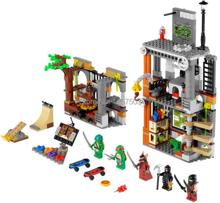Гаджет  BELA Teenage Mutant Ninja Turtles The Shellraiser Street Chase Building Blocks DIY Enlighten Bricks Toys Compatible with Lego None Игрушки и Хобби