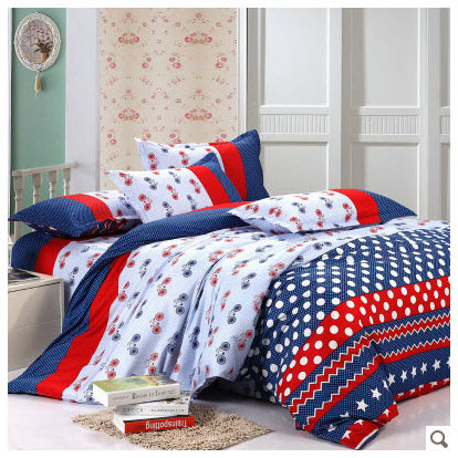Red blue and white striped charming polka dots and circles - Red white and blue sheets ...