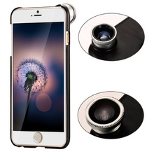 3 In 1 180 degree Fish Eye fisheye Lens+ Macro lens + 0.67X Wide Angle Phone Lens for iPhone 5 5S Camera lens with case CL-85IP5(China (Mainland))