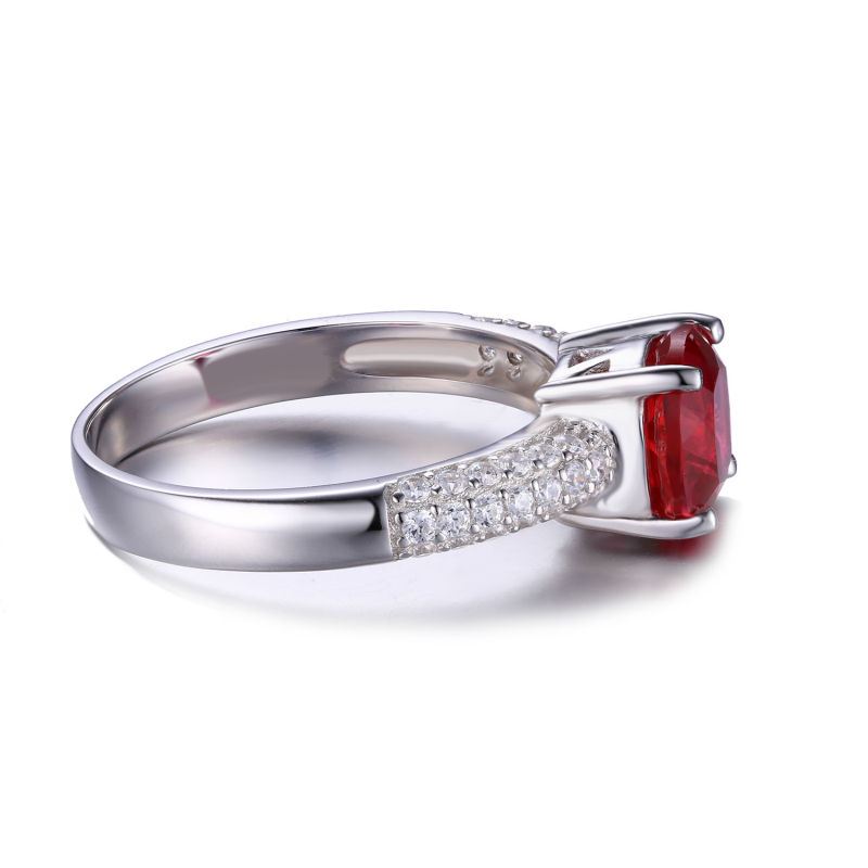 Aliexpress Buy Hot Sale 278ct Pigeon Blood Red Ruby Engagement Wedding Ring Pure Solid