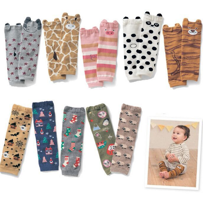 New Baby Leg Warmers Toddler Knee Pads Kids Children Legwarmers Safety Crawling Cusion Pads 5pairs/lot (BL027)(China (Mainland))