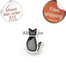 Buy Free floating charms,black cat charms Living locket 30mm ) for $1.42 in AliExpress store