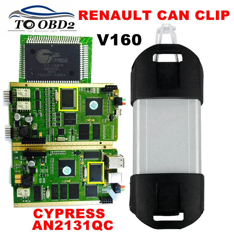 Quality Excellent PCB Full Chip AN2131QC Latest V160 Renault Can Clip Diagnostic Interface Multi-Function CAN Clip For Renault(China (Mainland))
