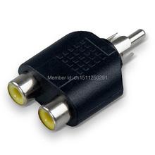 1 шт. RCA Y сплиттер а . в . аудио видео конвертер 1-штекер 2-Female адаптер yYBILQ