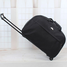 2016 Wheel Luggage Metal Trolley Bag Women'sTravel Bag Hand Trolley Unisex Bag Large Capacity Travel Suitcase Sac Board Chassis(China (Mainland))