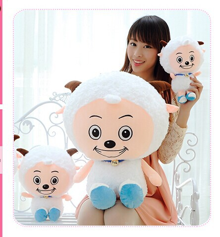80cm lovely sheep plush toy Movie anime cartoon pleasant goat doll throw pillow, Christmas gift w5487(China (Mainland))