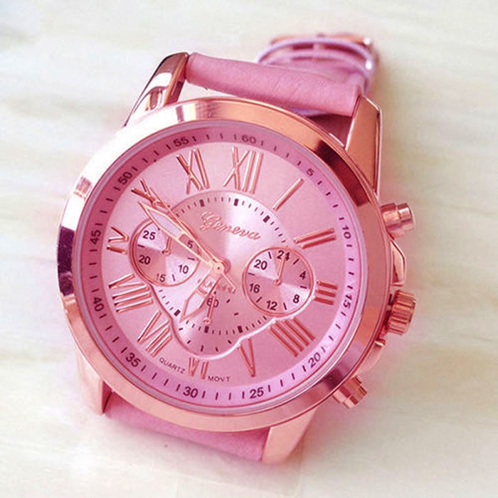 TIMEIX 2017 New Women's Fashion Geneva Roman Numerals Faux Leather Analog Quartz Wrist Watch Hot Sale Free Shipping,Nov 4