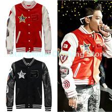 Kpop Bigbang jacket coat New Winter 2016 GD g-dragon Badge Baseball Uniform Casual Hooded Jacket Korean Hoodies - US and South Korea trend store