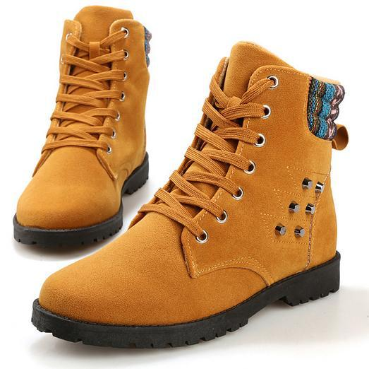 2015 new Casual Mid-Calf men shoes fashion Lace-up flock boots rivets mens canvas flat sneakers