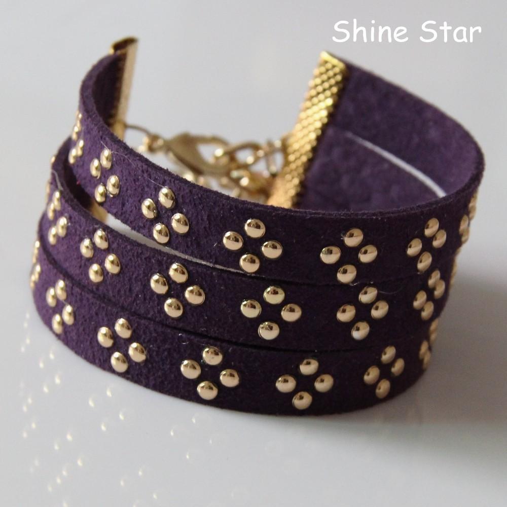 Handmade en alliage de zinc boucles 12 signes du zodiaque bracelet en cuir punk