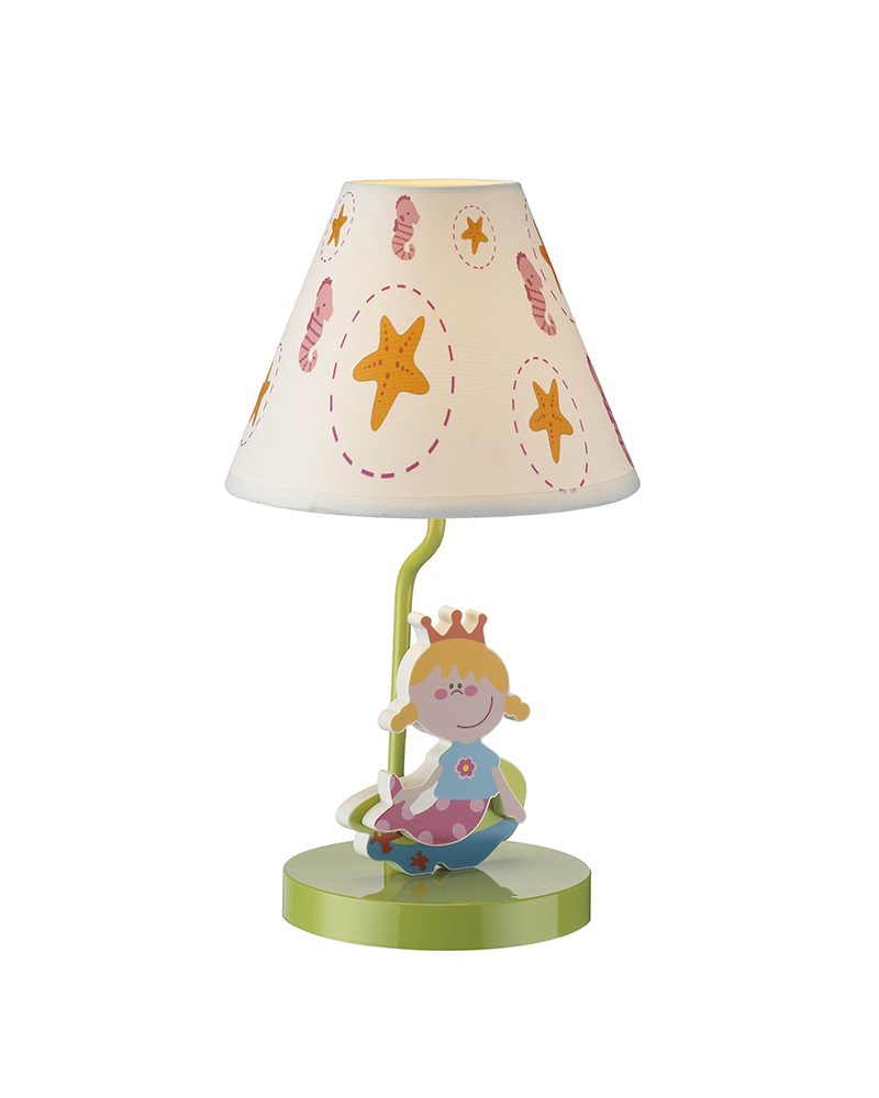 Kids Lamps Mermaid Princess Theme Table Lamp Children