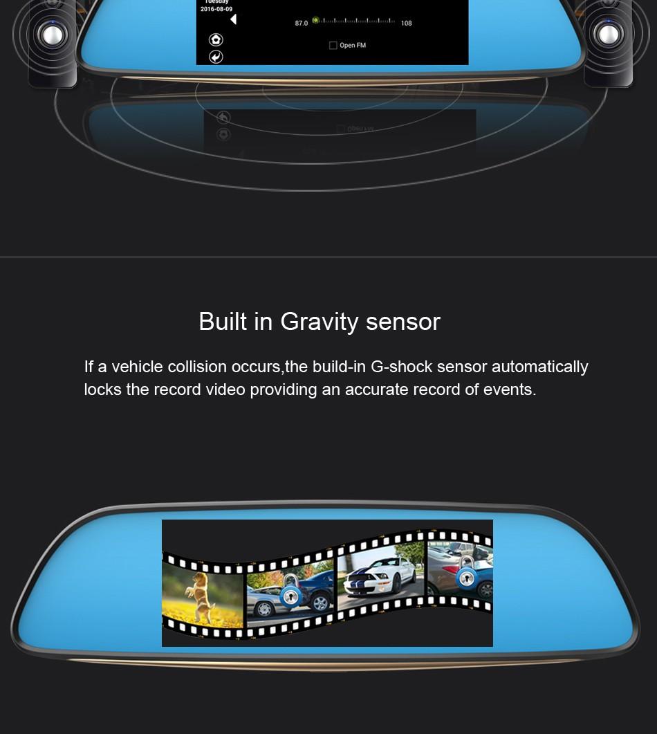 """Купить ANSTAR ГОРЯЧАЯ 6.86 """"Сенсорный RAM 1 ГБ ROM 16 ГБ 2 Разделением Android GPS Навигация Зеркало Автомобильный ВИДЕОРЕГИСТРАТОР с двумя объективами камера заднего парковка Wi-Fi FM"""