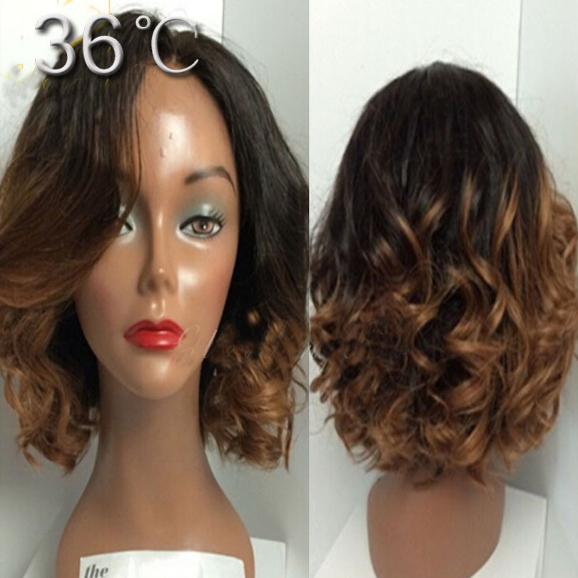 Short Blonde Ombre Wig 89