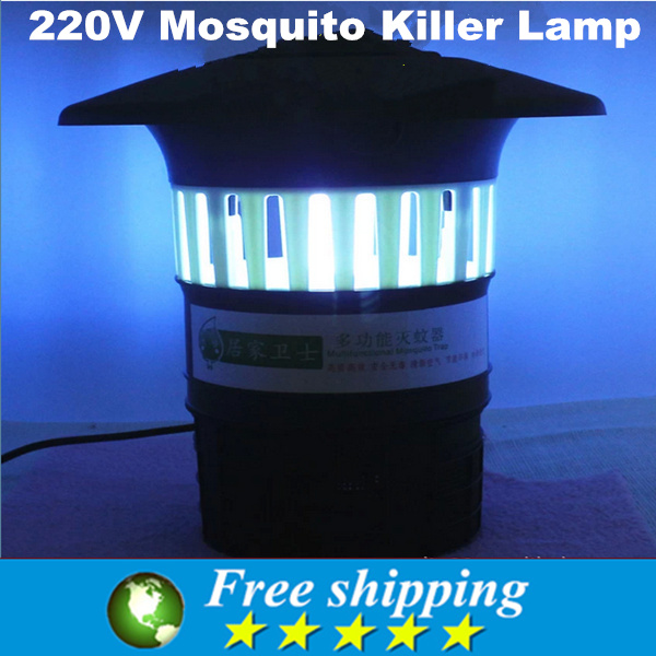 High quality 220V Mosquito Killer Lamp Insect Zapper Bug Fly Stinger Pest Control,Outdoor/garden villa mosquito killer Light.(China (Mainland))