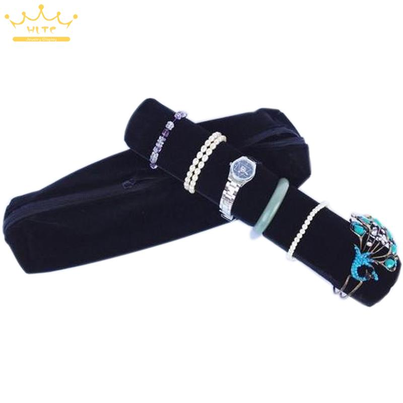 Organizer Mannequin Black Superior Soft Jewelry Display Roll Bags Travel Portable Pouch Bracelete Storage Bag Chain Watch Case - Guangdong HL Co,LTD store