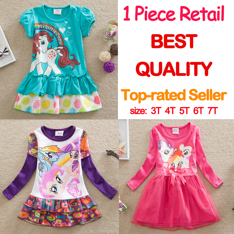 retail 2015 NEAT brand dress baby girls print cute lace tutu dresses vestidos children clothing kids wear nova wedding LD668 MIX(China (Mainland))