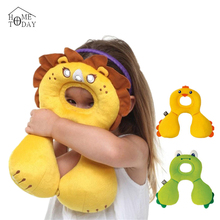 Baby's U Pillows Animal Shaped Headrest 0-12 Month Babies Cartoon Neck Protector Travel Toys Children Kids Pillow Gifts 5FYT101(China (Mainland))