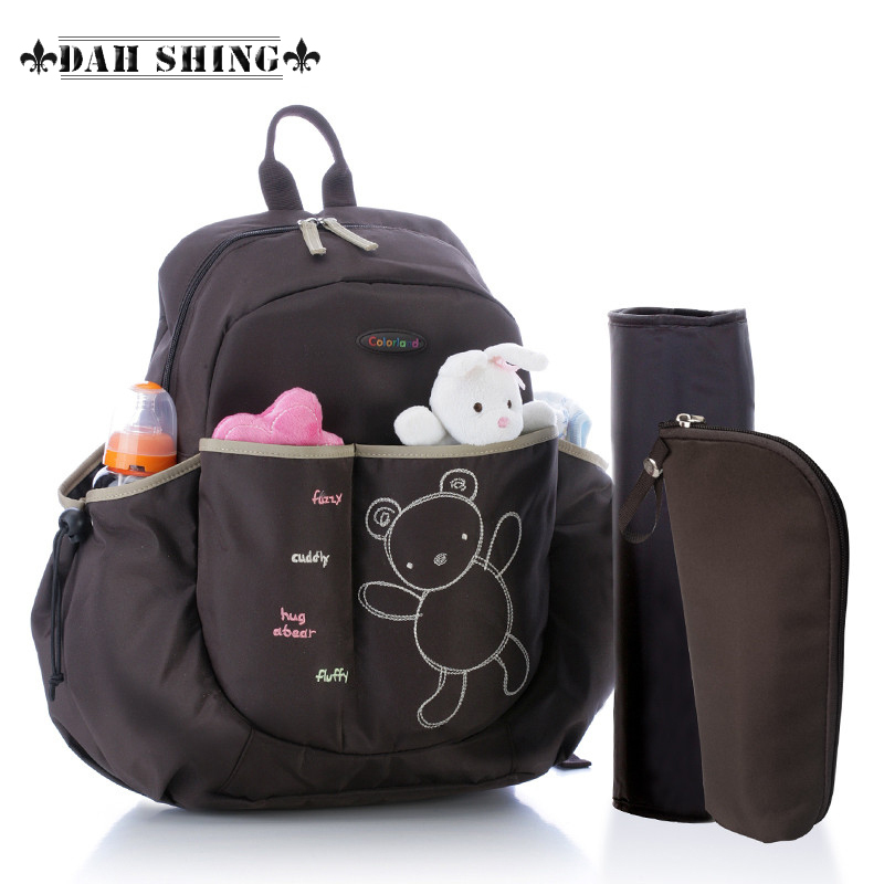 Hot 5 colors cartoon bear multifunction baby diaper bags nappy bags backpack for mother 3pieces set(China (Mainland))