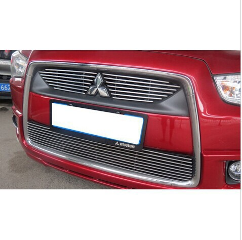 2010-2012 Mitsubishi ASX High quality stainless steel Front Grille Around Trim Racing Grills Trim,Free shipping<br><br>Aliexpress