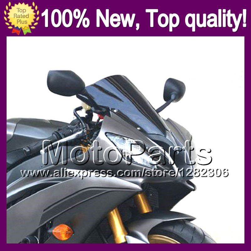 Dark Smoke Windshield For HONDA CBR400RR NC23 87-89 CBR400 RR CBR 400RR 400 87 88 89 1987 1988 1989 Q/7 BLK Windscreen Screen