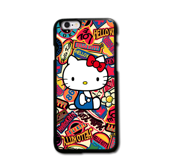 New Arrival Lovely Hello Kitty Design Back Cover Case for iPhone 4 4s 5 5s 5c 6 plus and for samsung case Free Shipping(China (Mainland))