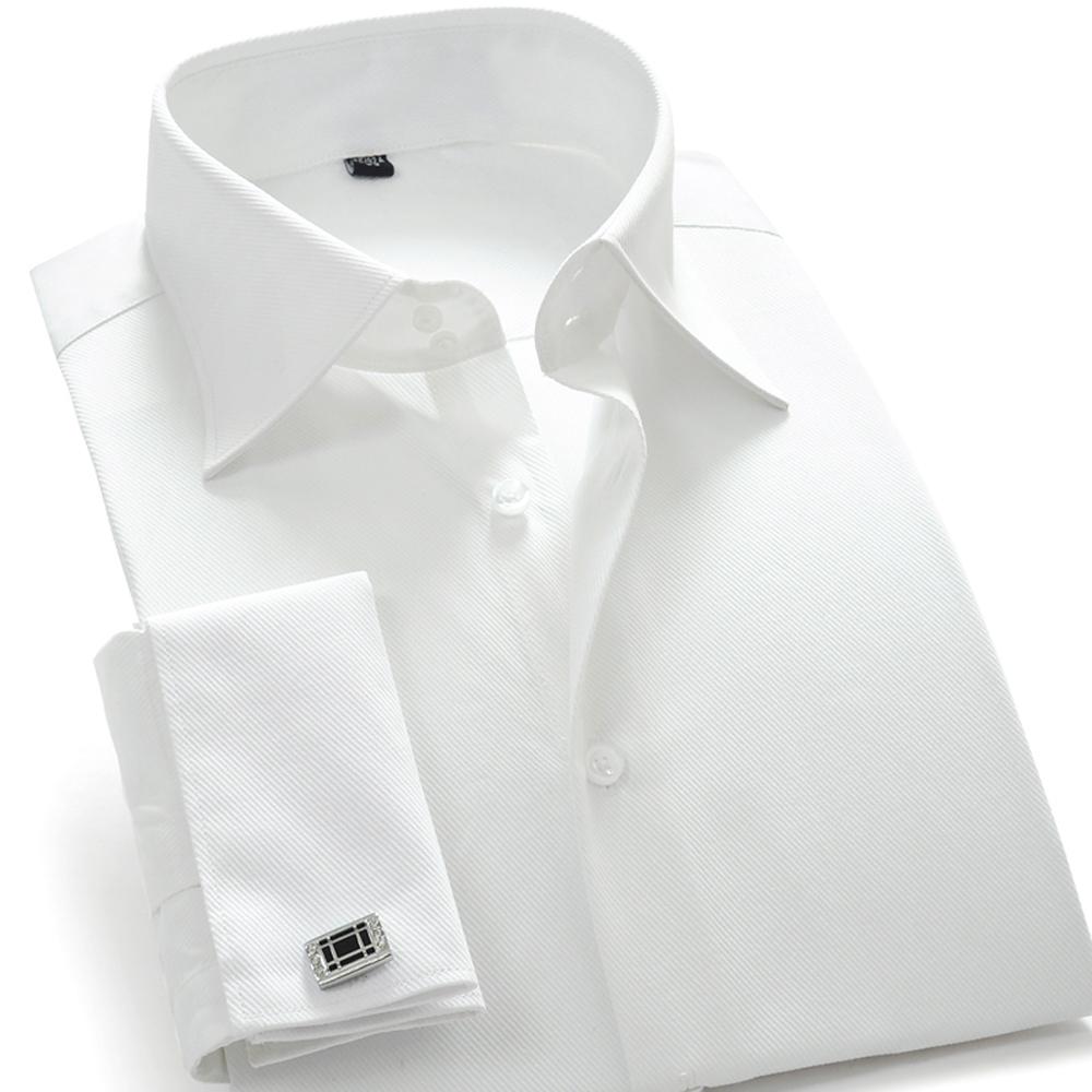 Hot Sale Designer French Cuff Dress font b Shirt b font font b Men b font