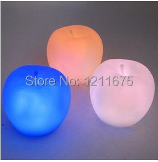 2PCS/LOT Creative Romantic atmosphere Apple Shape Changable Colorful Small Night Lights For Decoration(China (Mainland))