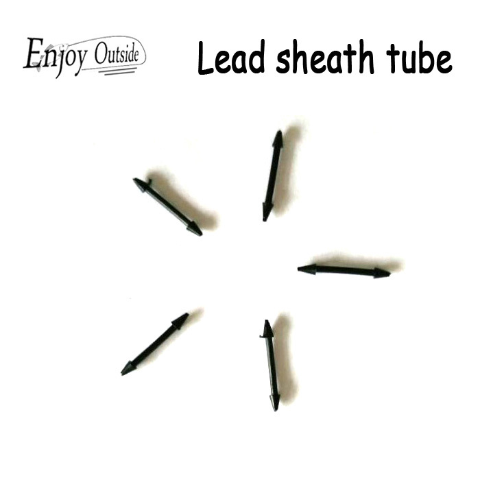 100Pcs/lot lead sheath tube lead sinkers cover seat fishing accessories hand pole fishing tackle plate free shipping(China (Mainland))