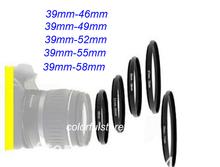 5Pcs 39mm to 46mm-49mm-52mm-55mm-58mm 39 46 49 52 55 58 mm Metal Step-Up Step Up Ring Camera Lens Lenses Filter Stepping Adapter