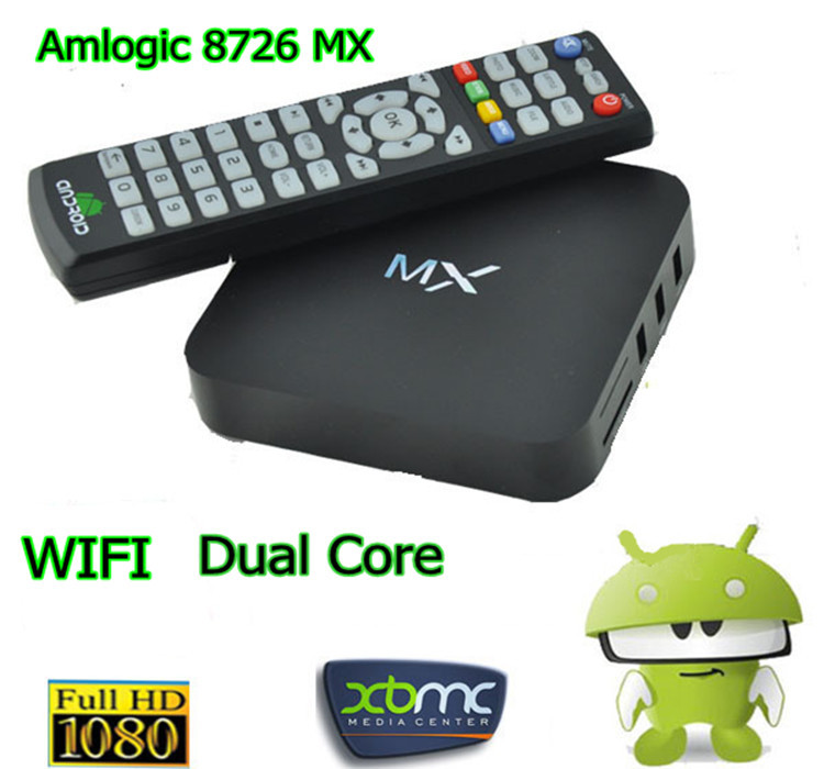 4.2.2 Dual Core Android TV Box top set,XBMC Midnight MX,1G RAM, 8G ROM,Dual ARM Cortex A9,Build in WiFi,Remote Control(China (Mainland))