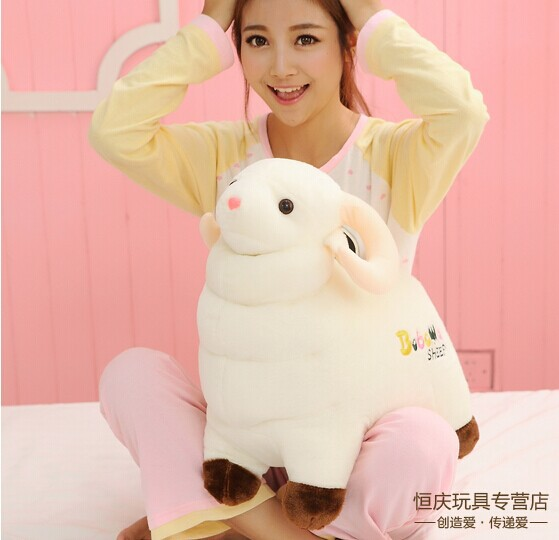 large 60cm cute sheep plush toy lovely goat doll throw pillow Christmas gift w5876(China (Mainland))
