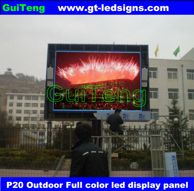P20 led display for outdoor video full color rental advertisement led sign panels(China (Mainland))