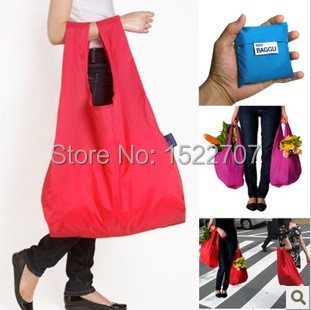 2015 Large-capacity Fashion Reusable Shopping Bag Grocery Bags Tote environmental Folding pouch handbags Convenient storage bags(China (Mainland))