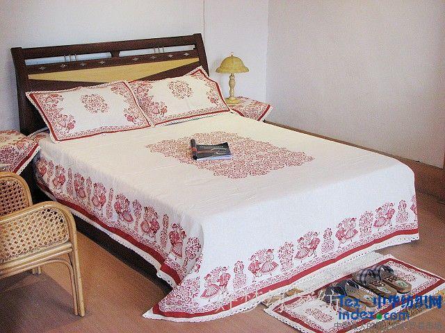 Summer slip-resistant fluid bed sheets linen grogram mat old coarse linen piece set