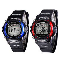 Multifunction LED Digital Waterproof Alarm Kids Child Boy Sports Wrist Watch Free Shipping and Drop Shipping