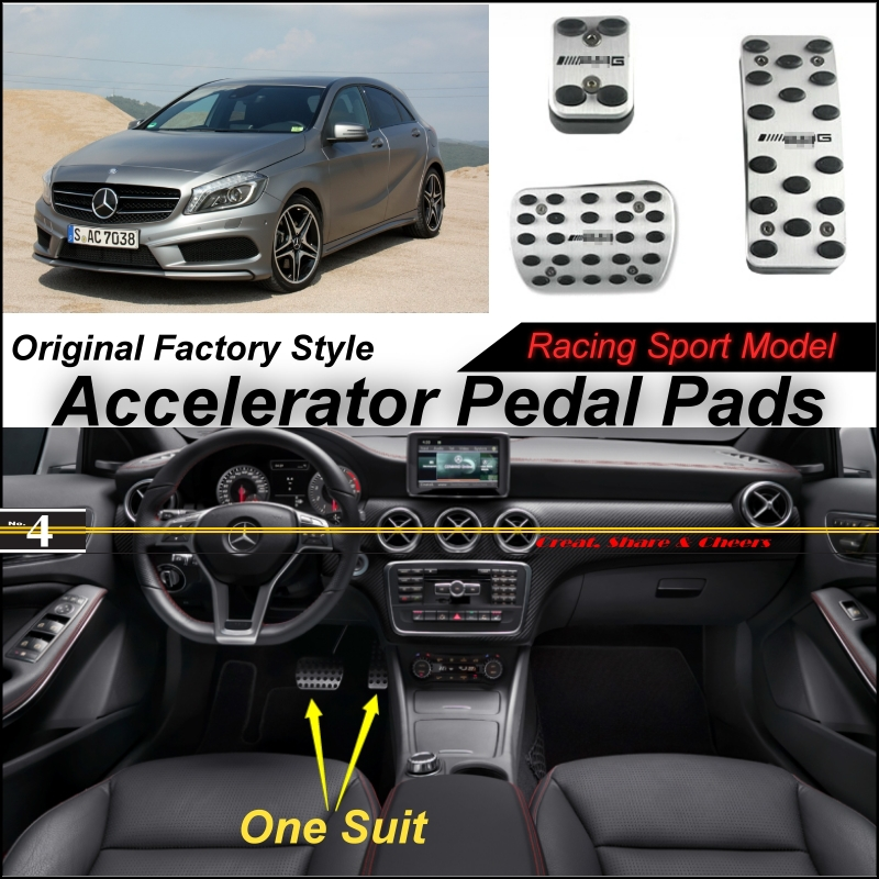 Car Accelerator Pedal Pad / Cover Factory Sport Racing Design Mercedes Benz Class MB W176 AT Foot Throttle
