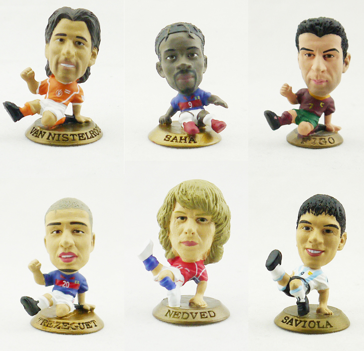 Collins prostars World Cup model FIGO NEDVED SAH SAVIOLA VAN NISTELROOY TREZEGUET best football Doll(China (Mainland))