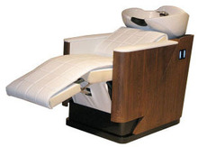 massage shampoo chair bed  ,solid wood  , pu leather  ,electrical shampoo bed(China (Mainland))